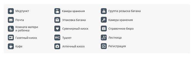Схема аэропорта Пермь (Большое Савино) 2 этаж
